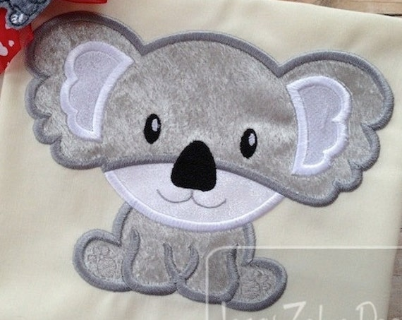 Koala 53 Applique embroidery Design - bear Appliqué Design - koala Applique Design - koala bear Appliqué Design - zoo Applique Design