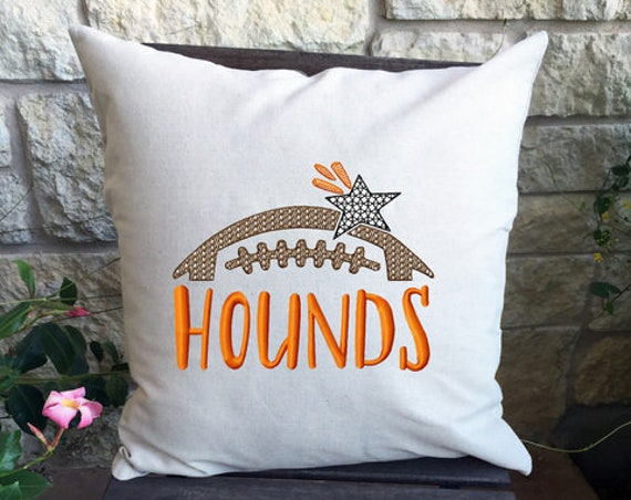 Hounds Football Embroidery Design - Football Embroidery Design - Hounds Embroidery Design - Mascot Embroidery Design -Team Embroidery Design