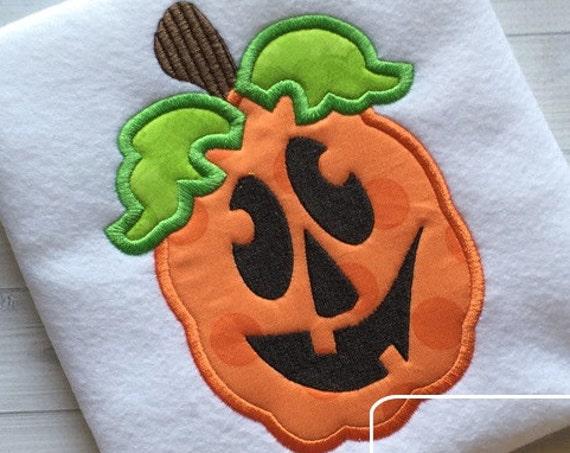 Jack o lantern 105 Applique Embroidery Design - pumpkin appliqué design - Halloween appliqué design - jack o lantern appliqué design