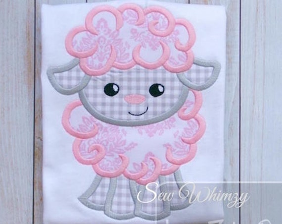 Sheep Applique embroidery Design - Lamb applique design - Easter appliqué design - sheep appliqué design - Baby applique design