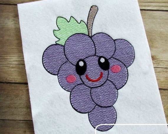 Grapes 104 with Face Sketch Embroidery Design - grapes Sketch Embroidery Design - fruit Sketch Embroidery Design - fruit embroidery design