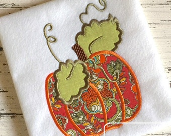 Pumpkin Applique embroidery Design - fall Applique Design - pumpkin Applique Design - Thanksgiving Appliqué Design - Halloween Applique