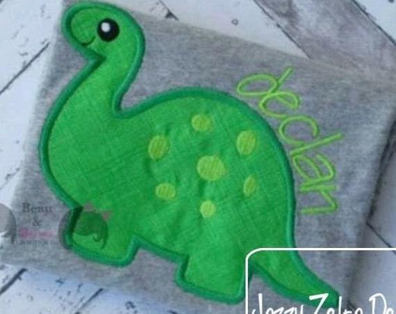 Baby Dinosaur 1 Applique Design - Brachiosaurus appliqué design - Dinosaur applique design - dino appliqué design