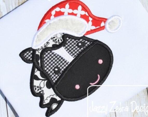 Santa Horse Appliqué embroidery Design - horse Appliqué Design - farm Appliqué Design - Christmas Appliqué Design - santa appliqué design