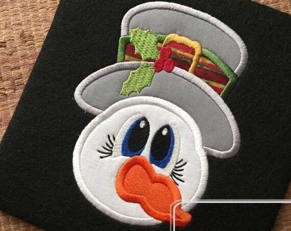Snowman 140 Applique Embroidery Design - Snowman appliqué design - winter appliqué design - snow man appliqué design - Christmas appliqué