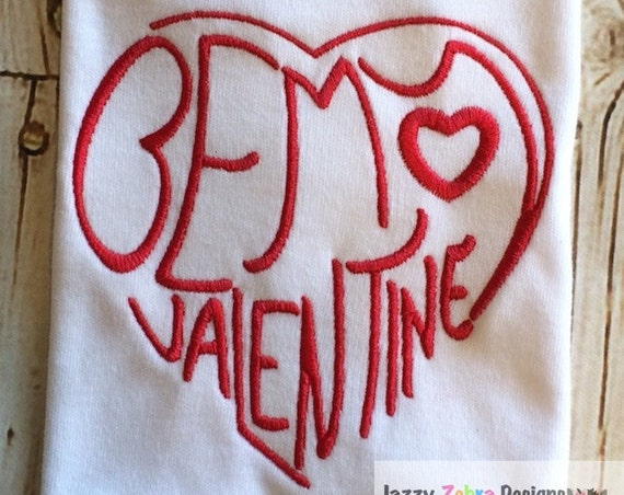 Be My Valentine Embroidery Design - Valentines day embroidery design