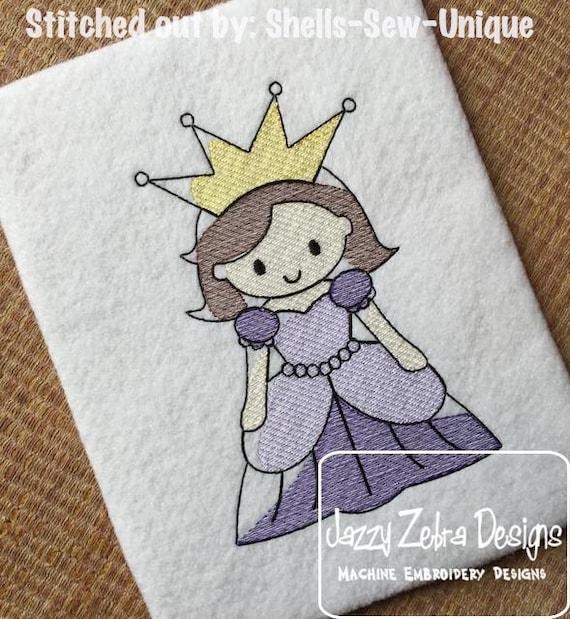 Princess 87 Sketch Embroidery Design - princess Sketch Embroidery Design - girl Sketch Embroidery Design