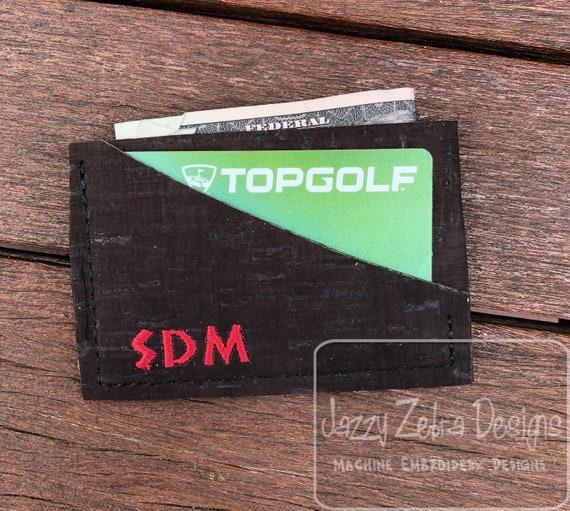 Front Pocket Wallet In the hoop design - wallet embroidery design - mens wallet embroidery design - womans wallet embroidery design - ITH