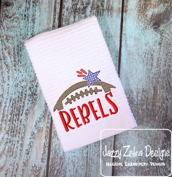 Rebels Football Embroidery Design - Football Embroidery Design - Rebels Embroidery Design - Mascot Embroidery Design -Team Embroidery Design