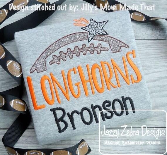 Longhorns Football Embroidery Design - Football Embroidery Design - Longhorns Embroidery Design - Mascot Embroidery Design - Team Embroidery