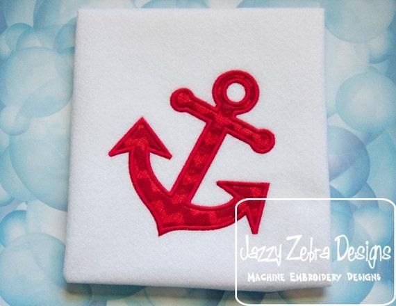 Anchor appliqué machine embroidery design instant download etsy