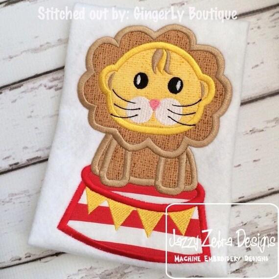 Circus Lion Applique embroidery Design - circus Applique Design - lion Applique Design - carnival Applique Design