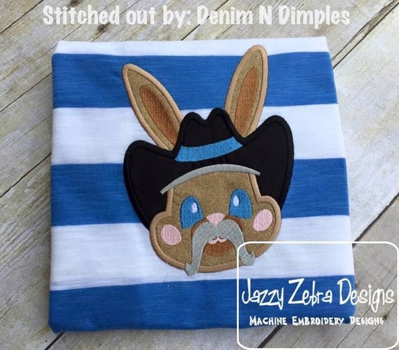 Cowboy Bunny Boy Appliqué embroidery Design - Easter appliqué design - rabbit applique design - bunny appliqué design - boy appliqué design