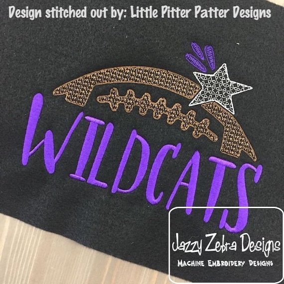 Wildcats football embroidery design - football embroidery design - wildcats embroidery design - mascot embroidery design - team embroidery
