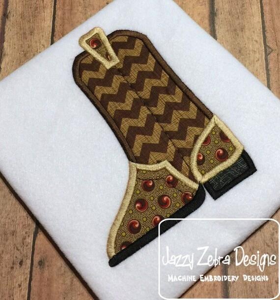 Cowboy Boot Applique embroidery Design - cowboy appliqué design - boot appliqué design - cowboy boot applique design