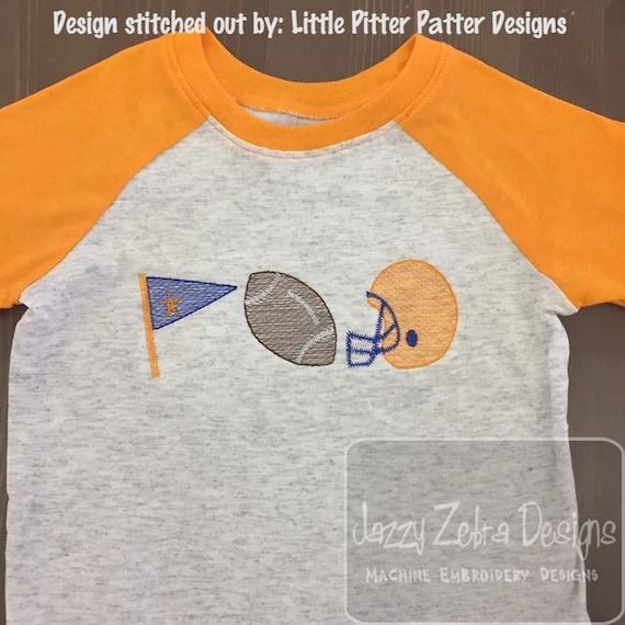 Trio boy Football sketch machine embroidery design - instant download design