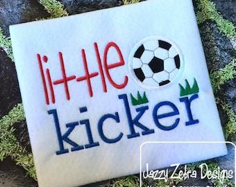 Little Kicker soccer saying appliqué machine embroidery design