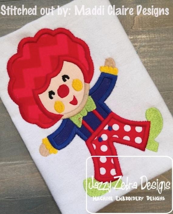 Clown Applique embroidery Design - circus Applique Design - clown Applique Design - carnival Applique Design - fair Applique Design