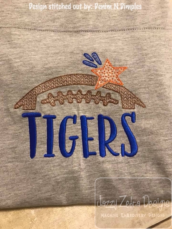 Tigers football embroidery design - football embroidery design - Tigers embroidery design - mascot embroidery design -team embroidery design