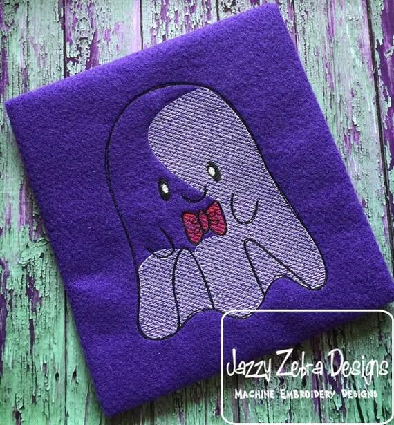 Boy Ghost Sketch Embroidery Design - Halloween Sketch Embroidery Design - Ghost Sketch Embroidery Design - boy Sketch Embroidery Design