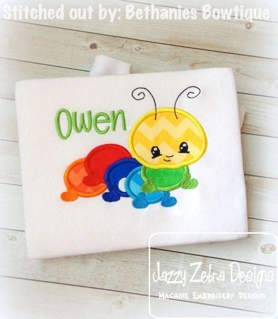 Caterpillar 71 Applique embroidery Design - caterpillar applique ...
