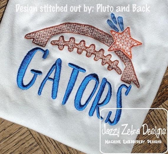 Gators Football Embroidery Design - Football Embroidery Design - Gators Embroidery Design - Mascot Embroidery Design -Team Embroidery Design