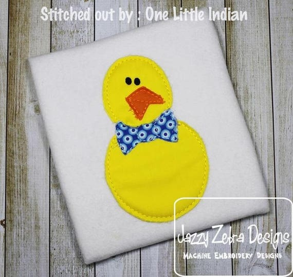 Raggedy Edge Chick boy bean stitch appliqué embroidery design - Easter appliqué design - chick appliqué design - boy appliqué design - baby
