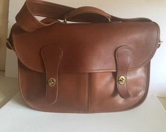 ee58da6611 Coach SALE! Musette Carrier Rich British Tan Briefcase Messenger Bag NYC!