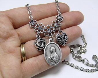 We design and create it Your picture CUSTOM PICTURE CHARM for a Floating Locket Choose a Saint! Catholic Glass Living Life Necklace