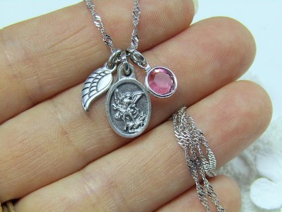 3//4 Pouces Sterling Silver Saint Gabriel Archange médaille pendentif