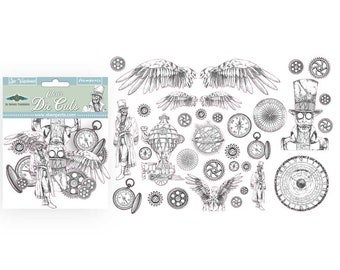 PASSION Acetate Shapes Clear Die Cuts Stamperia 45 Pieces #DFLDCP04