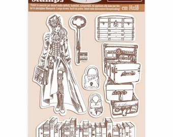 Tim Holtz CRACKS /& SPECKS Cling Mounted Red Rubber Stamps #CMS186