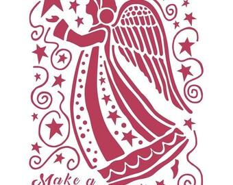 KFT DFSA4407 Reispapier Make a Wish Angel A4 US:One Size STAMPERIA INTERNATIONAL