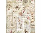 STAMPERIA Decoupage Imagine PRESSED FLOWERS Rice Paper A4 - DFSA4440