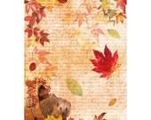 Ciao Bella Decoupage SWEET OCTOBER Rice Paper A4 Mixed Media - CBRP060