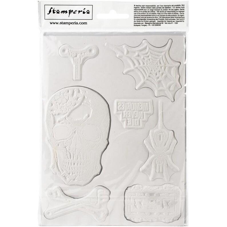 Stamperia MEMORIES NEVER DIE Mixed Media Art Stamp Rubber 15x20 cm #WTKAT06