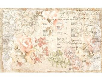 "Prima ReDesign FLORAL PARCHMENT Tissue Paper   19"" x 30"" - #647469"