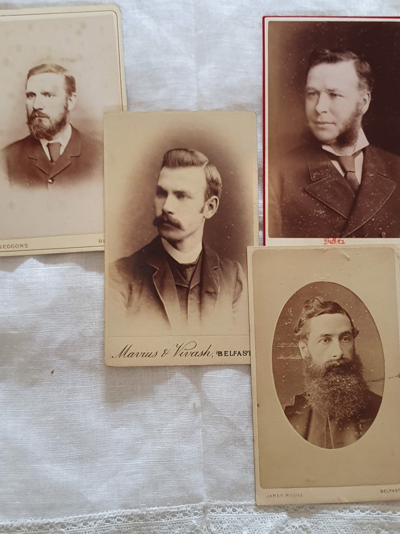 No.4 Carte de Visite cards with photos of gentlemen 1833-1870