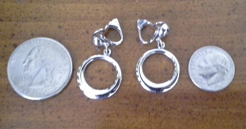 1950s Barbie Style Dainty Vintage Silvertone Small Hoop Earrings