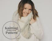 Knitting Pattern,The BOLTON Scarf, Tapered Scarf-Easy Pattern-Adult Size- Whistle and Wool