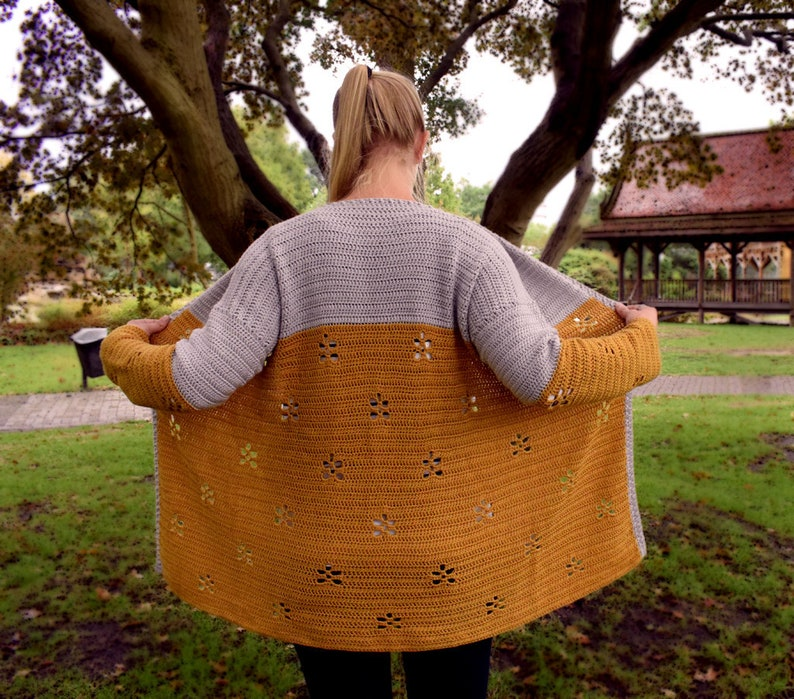Maple Leaf Cardigan crochet pattern PDF image 0