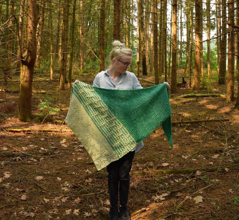 History of Trees crochet shawl pattern PDF image 0