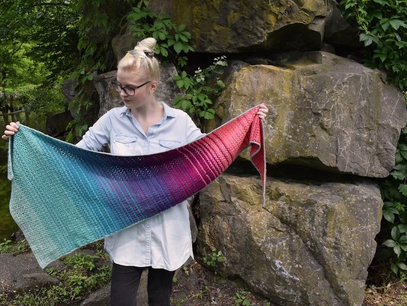 Sea of Flames crochet shawl pattern PDF image 0