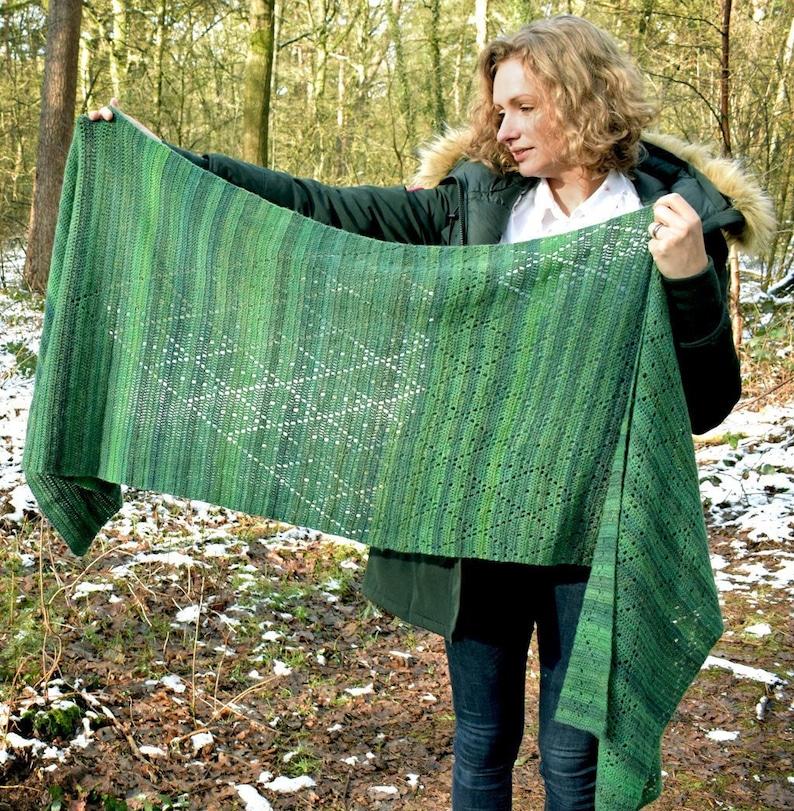 Fresh Leaves Shawl crochet pattern PDF image 1