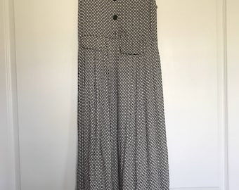 vintage 90's daisy print dress with tie in the back
