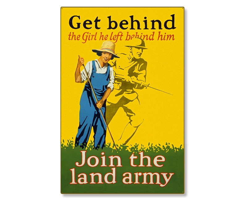 81b635ca0021 Join The Home Front Land Army WW1 Large Metal Wall Decor