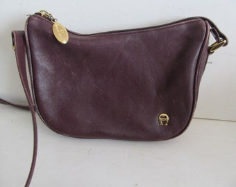 1bd47680f553 Etienne Aigner Purse Leather Crossbody vintage Designer Purse Maroon Pocketbook  Etienne Aigner Oxblood Shoulder bag Burgundy Leather