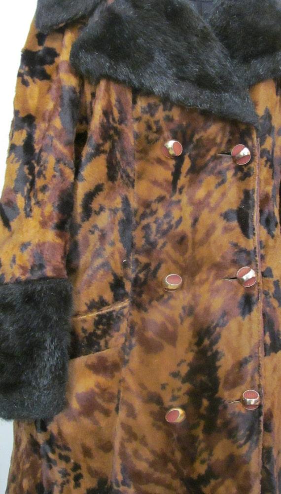1920s 30s Glamorous Faux Fur Flapper Long Jacket F