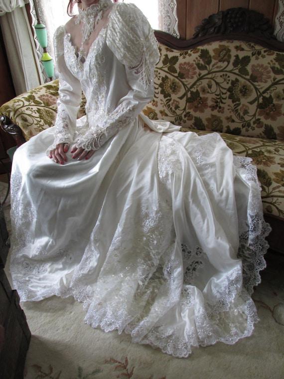 Etsy Wedding Romantic Lace Wedding Dress Victorian