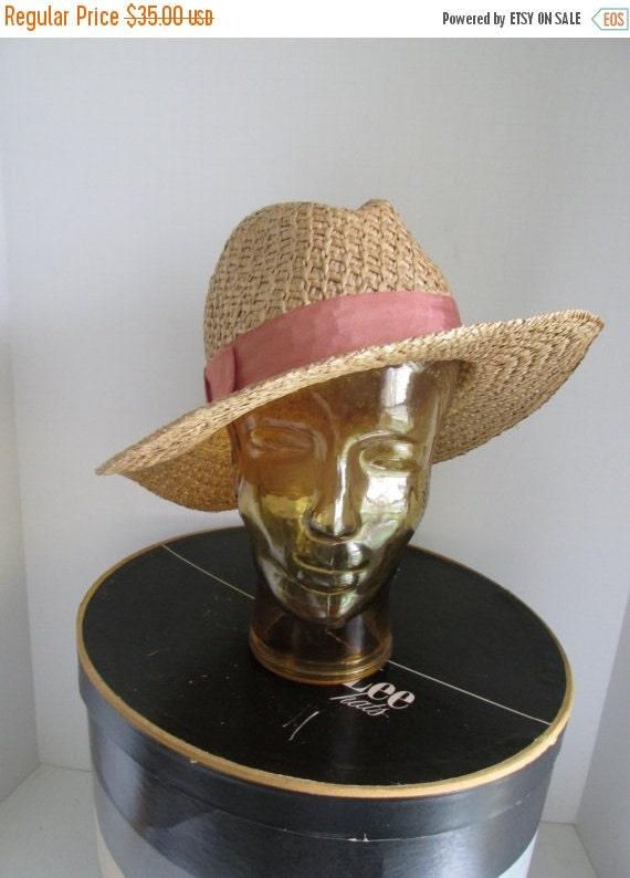 Beach Hat Womens Straw Hat Fedora Hat Panama Straw